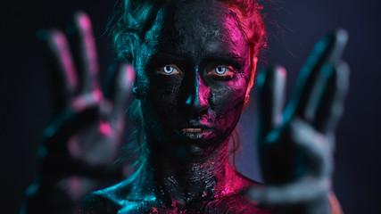 Creative make-up and beauty body art theme