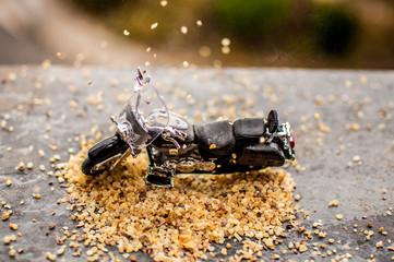 moto miniatura decoracion