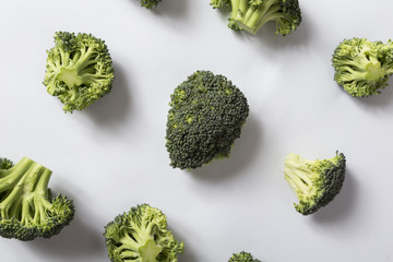 Top view of a broccoli