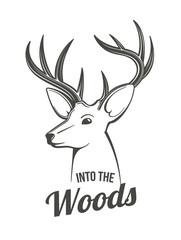 Deer head outlines
