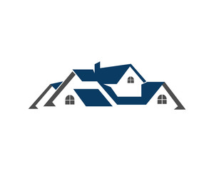 real estate building house property home houses flats construction architecture logo vector