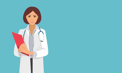 nurse, doctor from hospital, therapist, medical staff, woman, isolated vector character