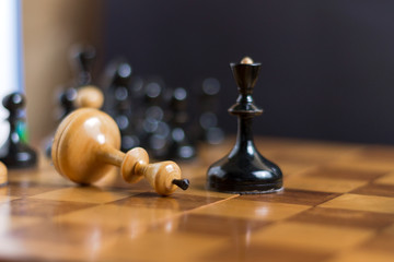 Chess king is checkmated