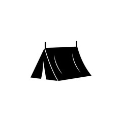 Tourist tent icon