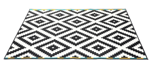 Carpet with pattern on white background