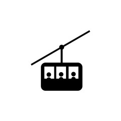 Funicular , cable car line icon