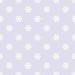 Seamless pattern with snowflakes gray white