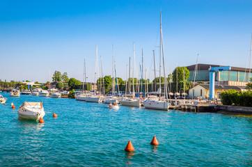 Beautiful coast of Garda Lake, Italy