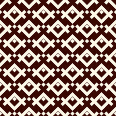 Ethnic style seamless pattern with geometric figures. Native americans ornamental abstract background. Tribal motif