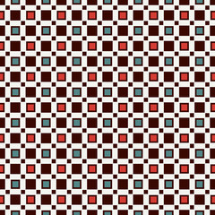 Seamless pattern with simple geometric ornament. Repeated squares abstract background. Contemporary surface texture.