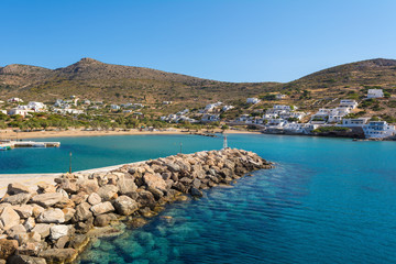Sikinos, beautiful small and secluded island in southern Cyclades. Greece.