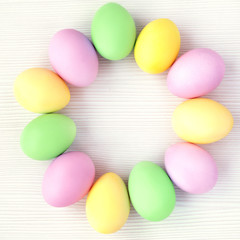 Easter Eggs pastel color