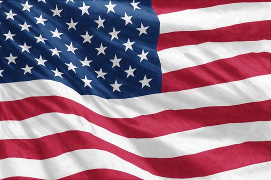 Flag of United States full frame close-up