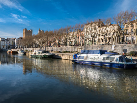 Robine Canal in the center of Narbonne