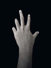 Zombie Hand, Isolated on Black Background