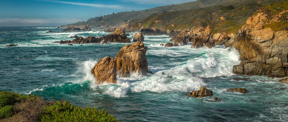 A panoramic view of the Big Sur coastline along California. Wall mural