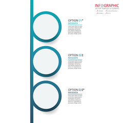 Vector abstract element infographics 3 option. Design for business or finance template layout, brochure, workflow, information or presentation and other. Can add infodata and icon. Abstract 3D vector.