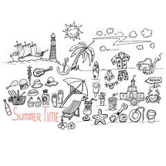 summer time, doodle