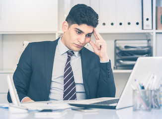 Man is having complicated issue in project