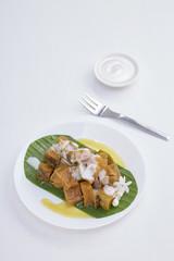 Thai dessert food with Pumpkin in syrup