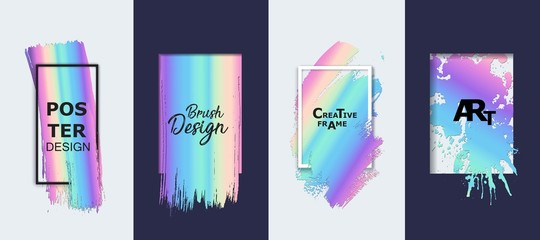 Vector hand drawn artistic design element, box, frame or background for text.