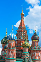 Europe. Russia. Moscow. Saint Basil's Cathedral in Red Square