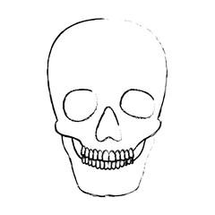 skull head skeleton icon