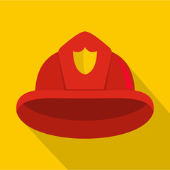 Helmet icon. Flat illustration of helmet vector icon for web