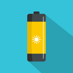 Battery icon. Flat illustration of battery vector icon for web
