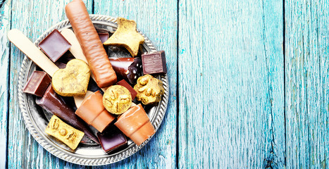 Poster de jardin Confiserie Assorted chocolate candies