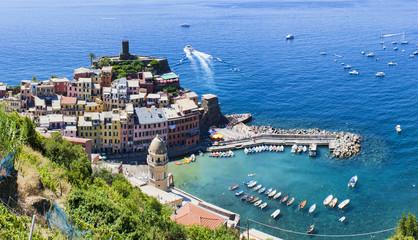 Vernazza sea coast in Cinque Terre, Italy