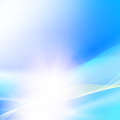Glowing dynamic wave on an blue background. Vector illustration.