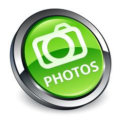 Photos (camera icon) 3d green round button