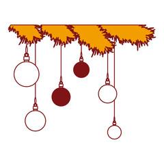 garlands and balls christmas decoration