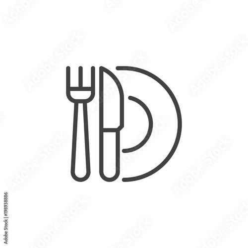 restaurant outline