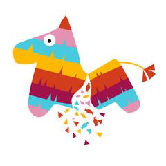 Fiesta horse pinata illustration