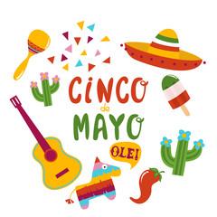 Cinco De Mayo banner lettering design