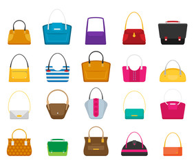 Fashion Bags set. Isolated vector illustration. Flat design