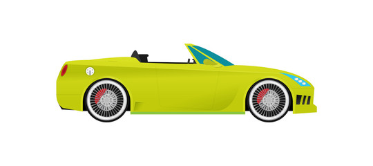 Flat racing car vector. Eps 10