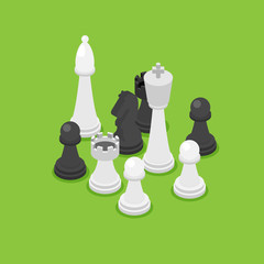 chess isometric. game isometric series