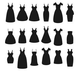 Flat vector set of dress