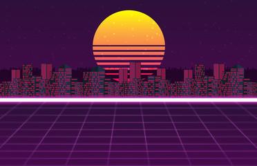 Retro futuristic vector background