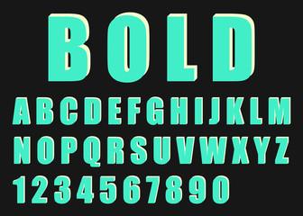Bold letters vector design