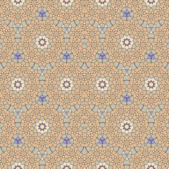 Quasicrystal artistic ornament or seamless medieval pattern with stylized stars in arabic style. Sacred geometry. Vector illustration.