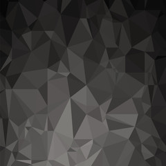 Grey Polygonal Background. Triangular Pattern. Low Poly Texture. Abstract Mosaic Modern Design. Origami Style