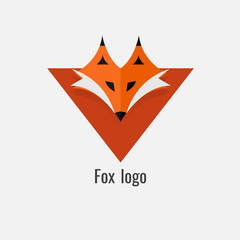 page fox Orange logo. modern on white background