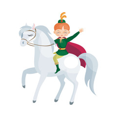 Colorful image of a fairytale Prince. Vector illustration in cartoon style.
