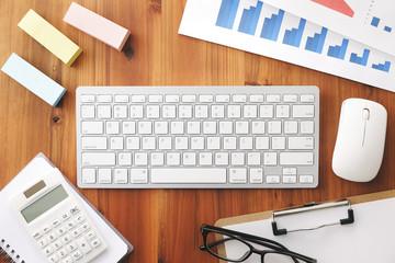ビジネスイメージ Business desk concept