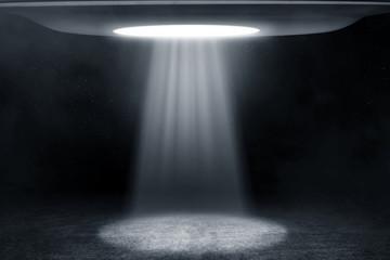 In de dag UFO Ufo flying at night