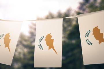 Cyprus flag pennants